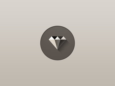 Ruby icon longshadow long shadow vector rails gem diamond