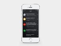 Designer News Home Screen
