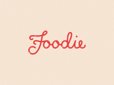 Foodie calligraphy typography lettering logo script type hand f