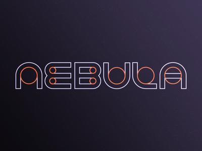 Nebula space logo logotype custom typeface circle stars branding visual identity