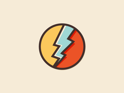 Logo Exploration chill visual logo identity lightning icon bolt shock