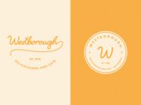 Westborough Delicatessen and Cafe visual identity calligraphy script vector logo