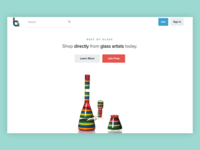 Best Of Glass Landing Page Concept ux ui photography web design design