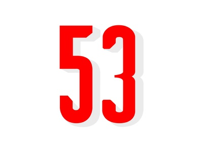 Fifty Third numericals handlettering photoshop procreate lettering type lettering