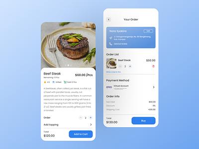Food Order mobile app app design mobile ui ui design ui design
