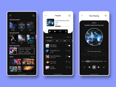 Music Player App Ui
