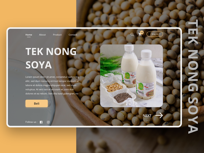 Web Design Tek Nong Soya uiux design mobile ui product design product eccomerce web design web clean clean ui exploration ui design ui