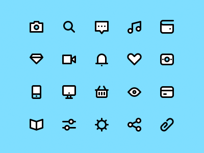 Free Icon Set freebie psd notifications diamond settings basket wallet money bar tab icons free