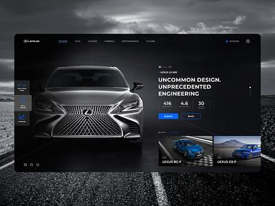 Lexus Website Concept car lexus engineering user interface figma black minimal interface design ui ux