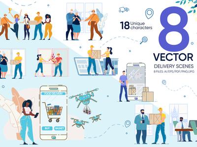 Delivery Vector Scenes