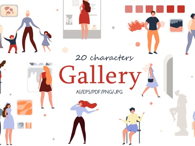 Gallery Charactery Flat Collection