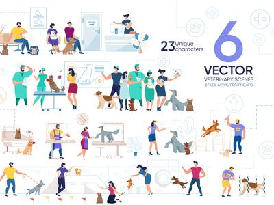 Veterinary Scene Flat Collection