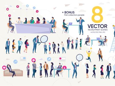 Vector Recruitment Scenes