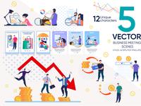 Business Meeting Vector Scenes