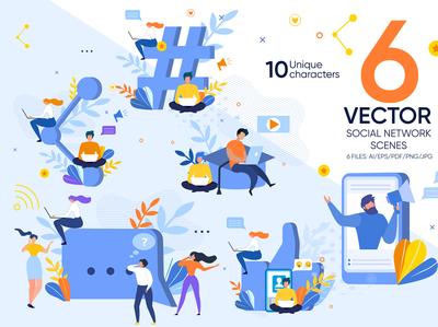 Social Network Vector Scenes