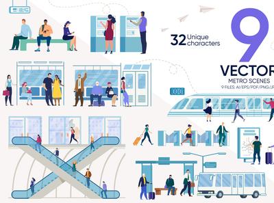 Metro Vector Scenes