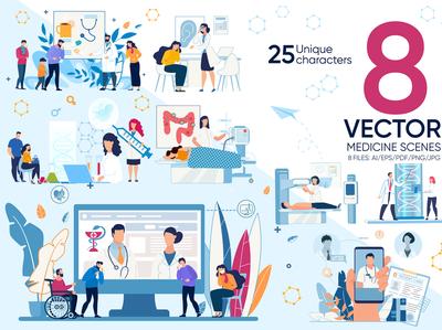 Medicine Vector Scenes