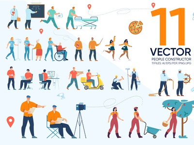 People Constructor Vector Scenes