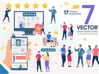 Online Review Vector Scenes