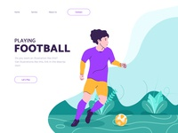 Football Illustration with Landing Page concept
