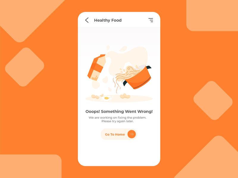 Healthy Food - Error states illustration illustration vector web design app design uiux flat illustration error state error 404 food app healthy food