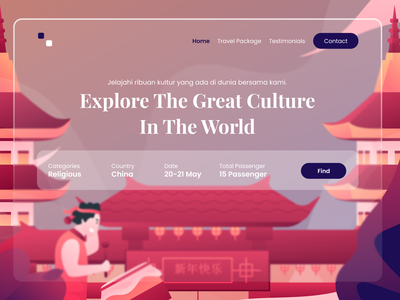 Explore Culture Apps - Exploration Design illustrator ui website flat design china vector illustration
