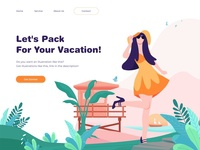 Vaction Illustration for Landing Page Concept