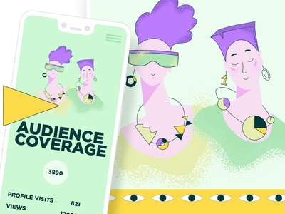 Vector illistration pack for Craftwork. Audience coverage