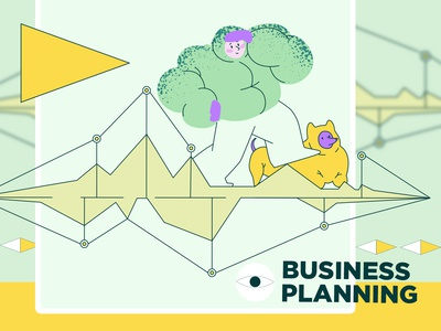 Vector illistration pack for Craftwork. Business planning
