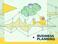 Vector illistration pack for Craftwork. Business planning