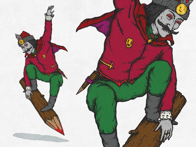 Vlad the boarder vampire dracula stake boarder impaler vlad