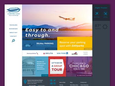 Dayton International Airport Website Design
