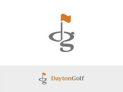 Dayton Golf Logo Concept golf flag golfing logo design logo branding rebrand