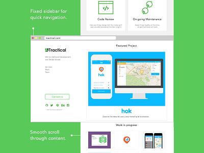 2014 redesign ui ux minimal responsive scroll website landing programming