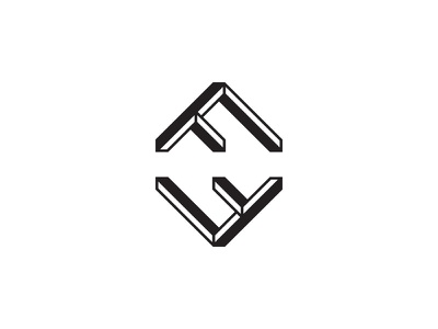 Felsen icon logo mark symbol minimal geometric letter f