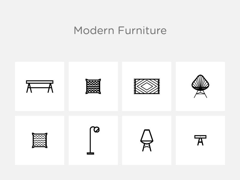 Modern Furniture icons noun project furniture home designer office decor