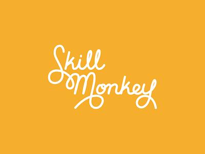 Skillmonkey calligraphy type typography brand lettering logo
