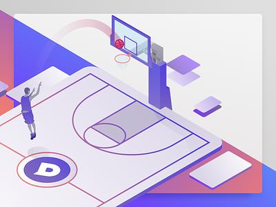 Hello Dribbble debut shot debuts dixa vector design illustration brand debute branding