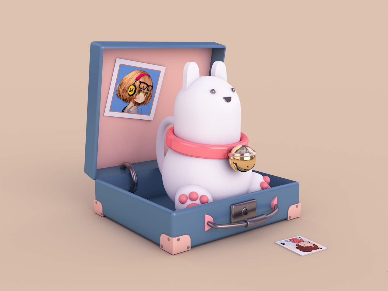3D Cartoon Rabbit design c4d