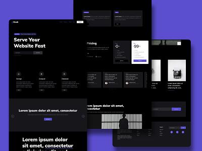 Dark Landing Page Theme theme template html freebie download free 2020 sketch website web ux ui design