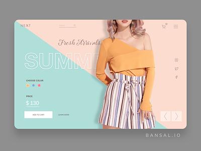 E-commerce Store Product Page sketch ecommence app design minimal website branding web ux ui