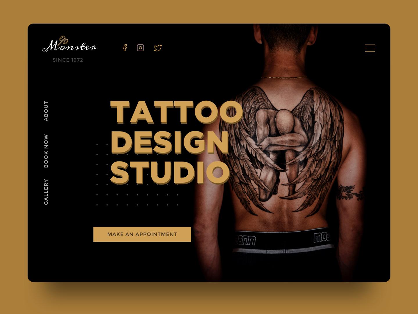 337a98daa Monster Tattoo Studio by Bansal on Dribbble