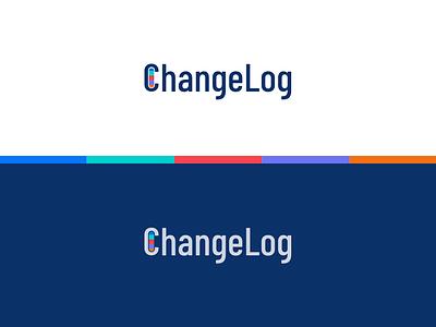 ChangeLog Logo typogaphy identity brand logo icon design branding app