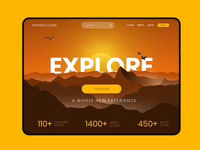 Website Design for Tours & Travels Portal branding illustraion art ux website design travel ui web