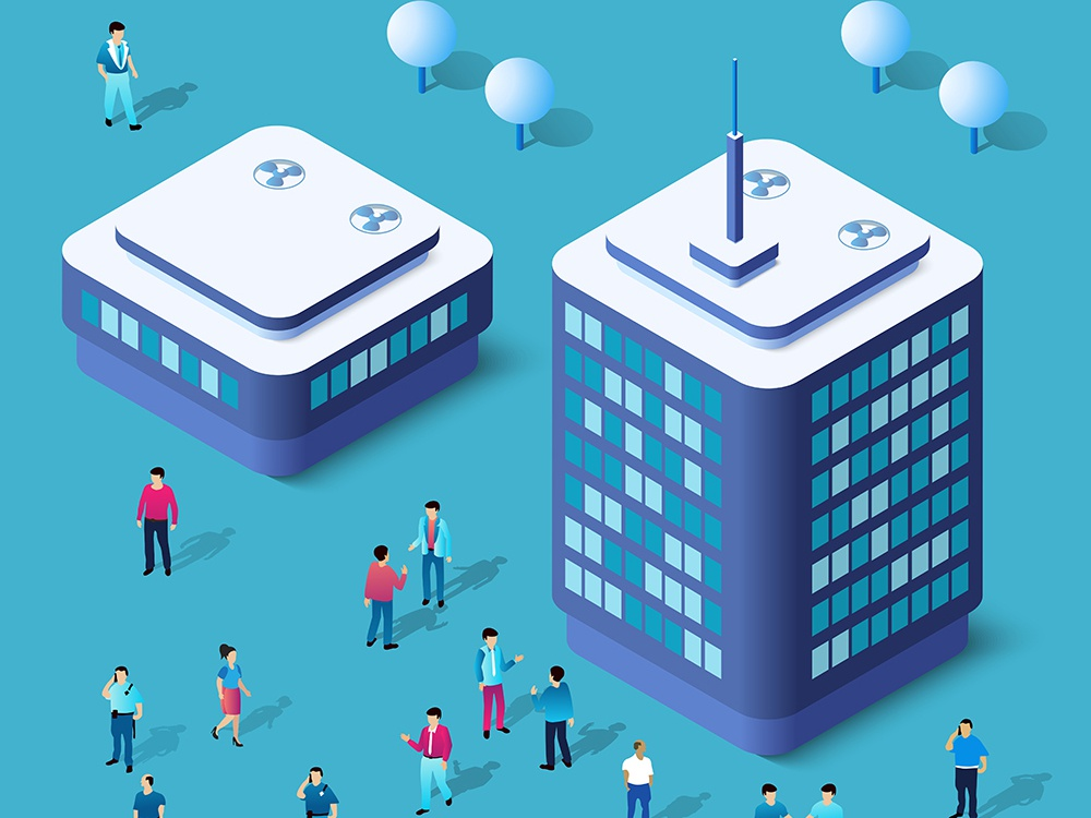 Modern 3D city isometric skyscrapers city vector isometric design isometric building architecture 3d