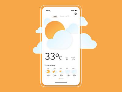 Daily UI #037 - Weather dailyui daily ui ui dailyuichallenge weather
