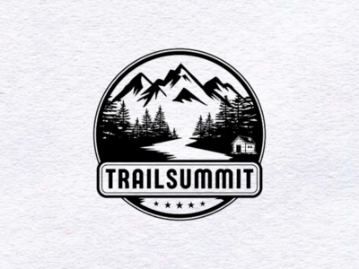 Trail Summit logo design for my client trail summit  logo design