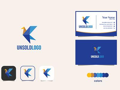Geometric logo design vector brand design icon design app geometric logo design flat logo