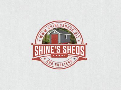 Shine's shed retro vintage logo