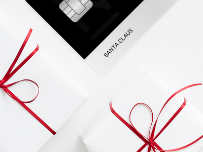 N26 Black Card x Santa Claus winter christmas presents premium card banking n26 design branding art direction